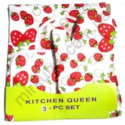 Набор для кухни - 3 предмета(рукав, фартук, прихват) № 701
