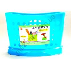 Подставка для ложек и вилок - овал - пластик № 784