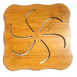 Подставка под тарелку - бамбук - фигурная № 1156