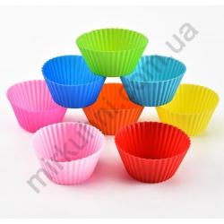 Форма для кексов круглая - силикон (10шт./уп.) № 88-5
