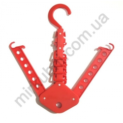 Вешалка крючок - пластик, раскладная № 885