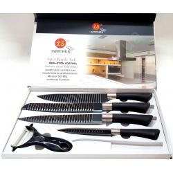 Набор ножей - 6 предметов - тефлон черный № 379