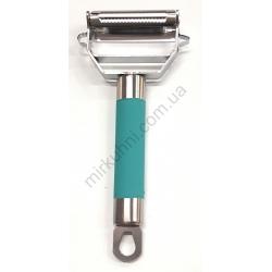 Овощечистка - металл -ручка силикон № 1233