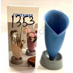 Подставка для ложек и вилок - пластик № 1353
