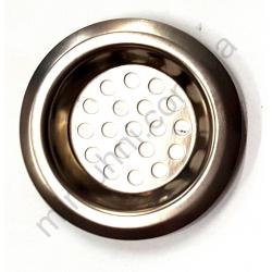 Сетка-фильтр для раковины- металл -крупная № 7291
