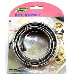 Форма для украшения салатов-круглая -металл на блистере. № 428